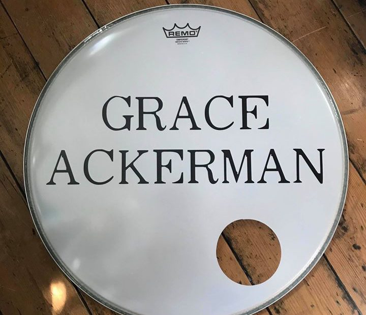 Grace Ackerman kick drum sticker