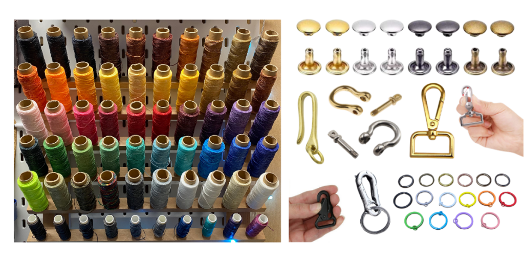 Coloured threads and Hardware