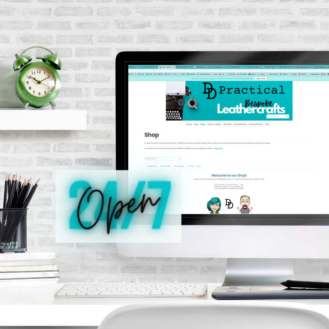 Screenshot of our online shop